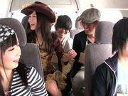Asian milfs Uta Kohaku, Hibiki Otsuki enjoy group sex
