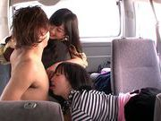 Asian milfs Uta Kohaku, Hibiki Otsuki enjoy group sexsexy asian, asian anal}