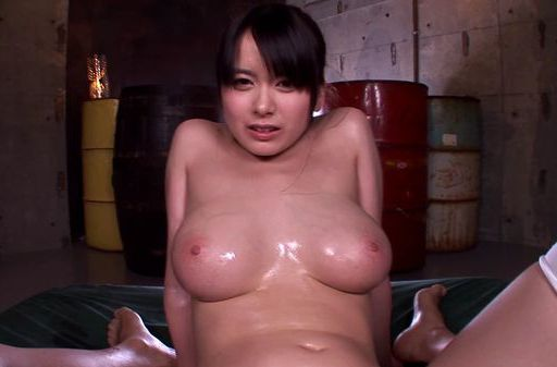 Busty Asian angel Anna Natsuki gets oiled enjoys titfuck