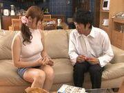 Savory Japanese milf Ramu Hoshino performs a handjob
