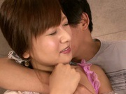 Yukino Kawai's tight vag fits perfectly over the guy's dick
