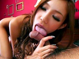 Ramu Nagatsuki Naughty Asian babe enjoys sucking