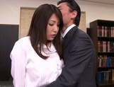 Busty Kokoro Maki enjoying a good office fuck picture 11