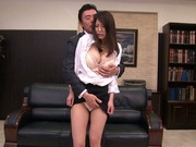 Busty Kokoro Maki enjoying a good office fuck