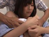 Precious Japanese babe Haru Sasaki gets cum on body picture 15