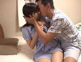 Precious Japanese babe Haru Sasaki gets cum on body