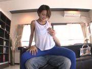 CFNM fingering with a horny Asian teen Karen Aoki