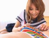 Kirara Asuka Asian babe in school uniform is fucked picture 13