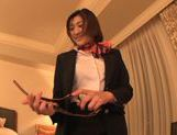 Curious Japanese milf Yuna Shiratori is fucked in a hotel room picture 11