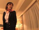 Curious Japanese milf Yuna Shiratori is fucked in a hotel room picture 12