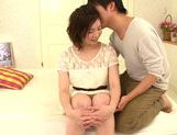 Seductive japanese model Airi Shy gets her slit nailed picture 10