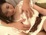 Seductive japanese model Airi Shy gets her slit nailed picture 14