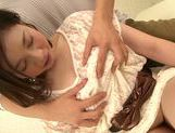 Seductive japanese model Airi Shy gets her slit nailed picture 15