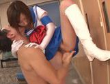 Horny Japanese schoolgirl makes facesitting and rides cock picture 14