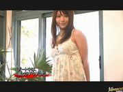 Megu Fujiura Hot Asian teen fondles her snatch and shows boobs