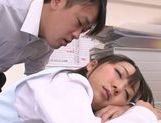 Amazing Japanese milf Chika Haruno adores tough oral games picture 14