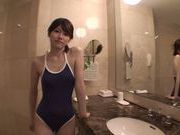 Sensual Yui Uehara gets nailed in the shower