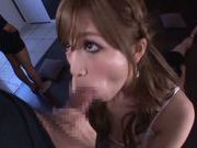 Glorious Japanese milf Erika Shibasaki sucks and swallows