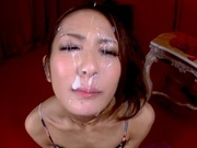 Beautiful Asian milf Maika Kawanami stimulates big cock gets a facialhot asian girls, asian women}