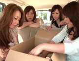 MILF Maids Yumi Kazama And Nanako Mori Fuck A Customer picture 1