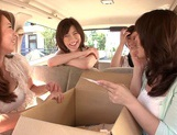 MILF Maids Yumi Kazama And Nanako Mori Fuck A Customer picture 7