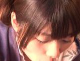 Savory Asian teen Rio Ogawa deepthroats cock in sauna picture 12