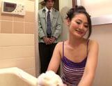Superb Sarina Takeuchi is watched while masturbating picture 11