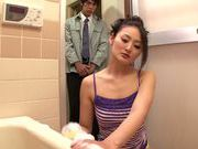 Superb Sarina Takeuchi is watched while masturbating