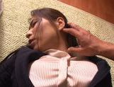 Hot milf in office suit Mayuka Okada cock sucking action picture 14