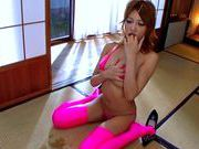 Kirara Asuka is sucking a rock hard cock while she is in her sexy lingeriehot asian pussy, asian wet pussy}
