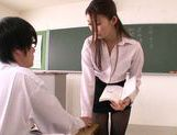 Hot Japanese teacher Natsume Inagawa seduces her student picture 5