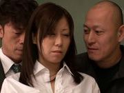Submissive busty Japanese milf Chihiro Akino enjoys screwing