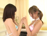 Juicy lesbian girl Shunka Ayami kisses her amazing girlfriend picture 3