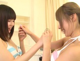 Juicy lesbian girl Shunka Ayami kisses her amazing girlfriend picture 7