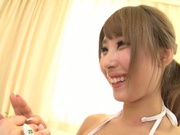 Juicy lesbian girl Shunka Ayami kisses her amazing girlfriend