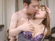 Yuu Namiki gets her hairy pussy licked and loves the pleasure from it