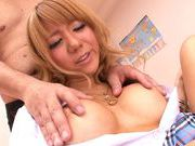 Cum thirsty vixen Asuka Hoshi enjoys amazing threesome sexfucking asian, asian ass}