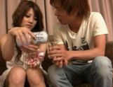 Risa Tsukino spreads her tight pussy lips wide open to reveal pink picture 11