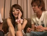 Risa Tsukino spreads her tight pussy lips wide open to reveal pink picture 12