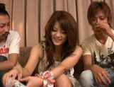 Risa Tsukino spreads her tight pussy lips wide open to reveal pink picture 14
