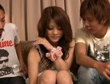 Risa Tsukino spreads her tight pussy lips wide open to reveal pink picture 15