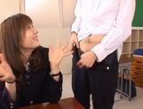 Yuma Asami gets fucked by two guys while wearing a school uniform picture 3