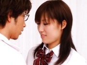 Tomoka Minami Asian model in school uniform gets a hard fucking