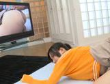 Japanese AV model gets a hard pussy pounding picture 12