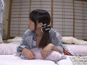 Lovely Japanese teen gets fingered and drilled in a doggystyle