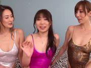 Asuka, Reiko Sawamura and Sarina Takeuchi are horny lesbians