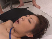 Gorgeous AV babe Asuka is pounded by horny office dudesjapanese porn, asian pussy}