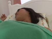 Tired Miyu Suzumura engulfing a tasty cock
