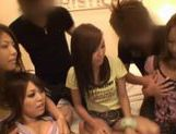 Japanese AV model has a wild orgy