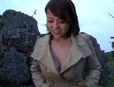 Toy insertion makes Reiko Nakamori cum hard picture 1